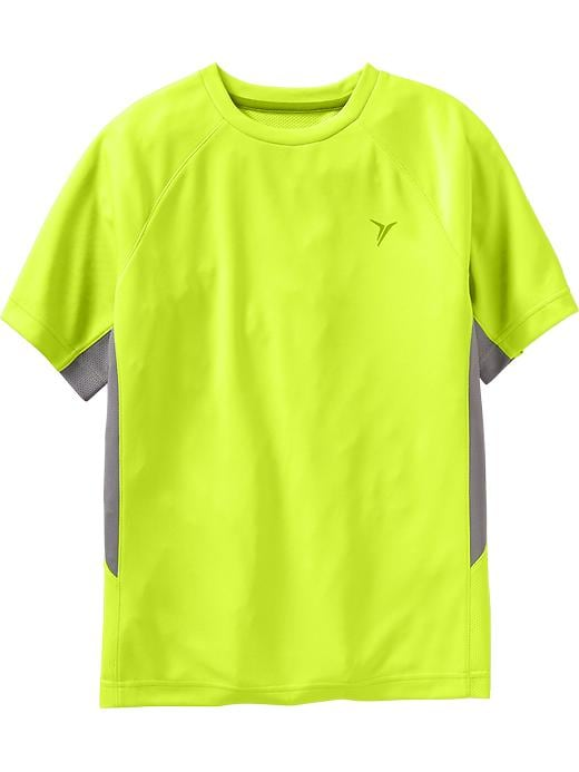Boys Active By Old Navy Color Block Mesh Tees - Electric neon - Old Navy Canada