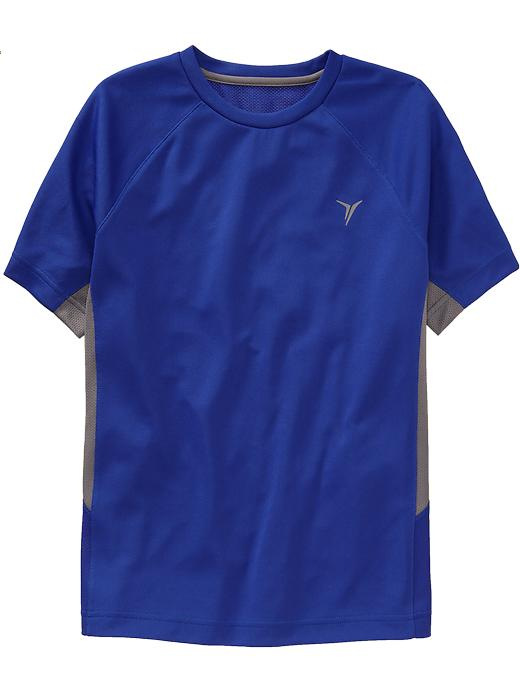Boys Active By Old Navy Color Block Mesh Tees - Blue bloods polyester - Old Navy Canada