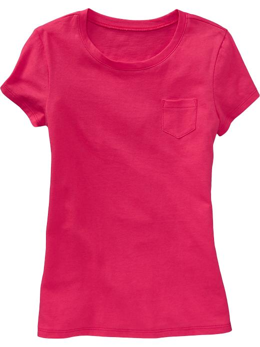 Old Navy Girls Classic Crew Neck Tees - Electric youth