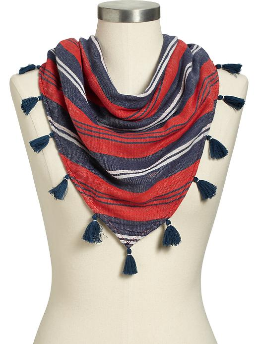Old Navy Women's Striped Triangle Scarves - Warm stripe - Old Navy Canada