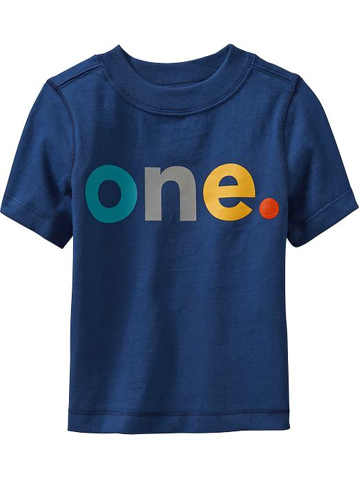 """Old Navy """"one"""" Graphic Tees For Baby - Blue typhoon"""