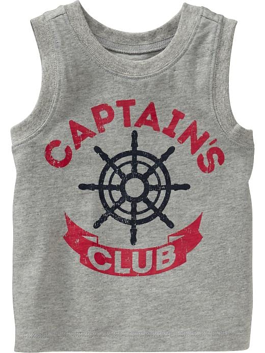 Old Navy Nautical Graphic Muscle Tees For Baby - Heather gray - Old Navy Canada