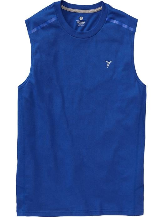 Men's Active By Old Navy Godry Muscle Tees - Blue bloods polyester - Old Navy Canada