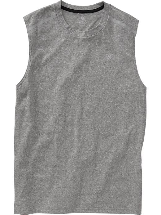 Men's Active By Old Navy Godry Muscle Tees - On med grey heather - Old Navy Canada