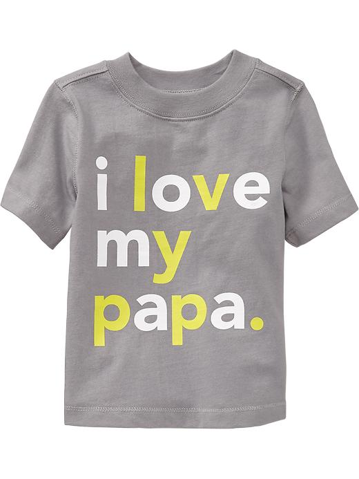 "Old Navy ""i Love My Papa"" Tees For Baby - Cinder smoke"