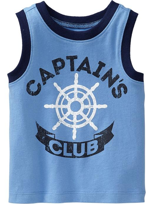 Old Navy Nautical Graphic Muscle Tees For Baby - Azure like you - Old Navy Canada