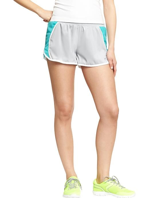 "Women's Active By Old Navy Side Mesh Running Shorts (3"") - Pale grey - Old Navy Canada"