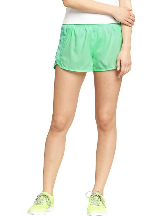 "Women's Active By Old Navy Side Mesh Running Shorts (3"") - Magic mint polyester - Old Navy Canada"
