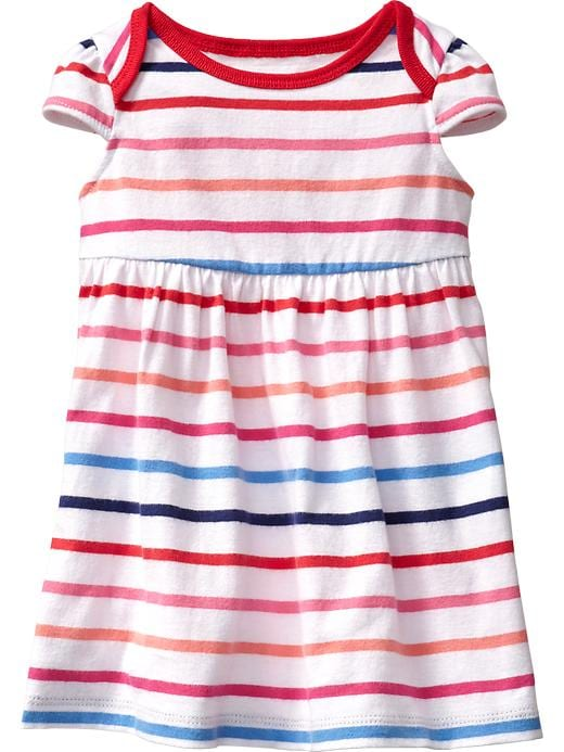 Old Navy Printed Jersey Dresses For Baby - Warm multi stripe