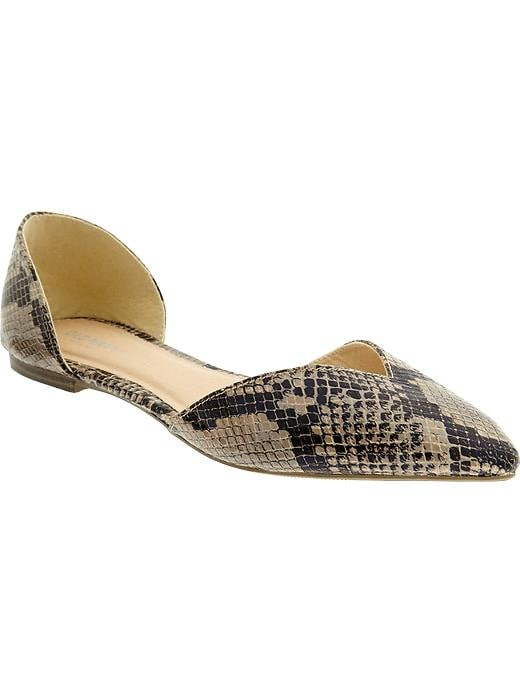 Old Navy Women's Snakeskin Print D'Orsay Flats - Snake - Old Navy Canada