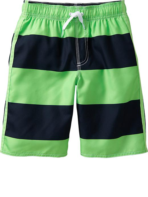 Old Navy Boys Rugby Stripe Swim Trunks - Navy stripe - Old Navy Canada