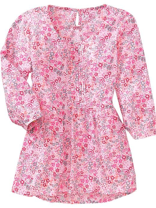 Old Navy Girls Floral Peplum Tops - Pink floral