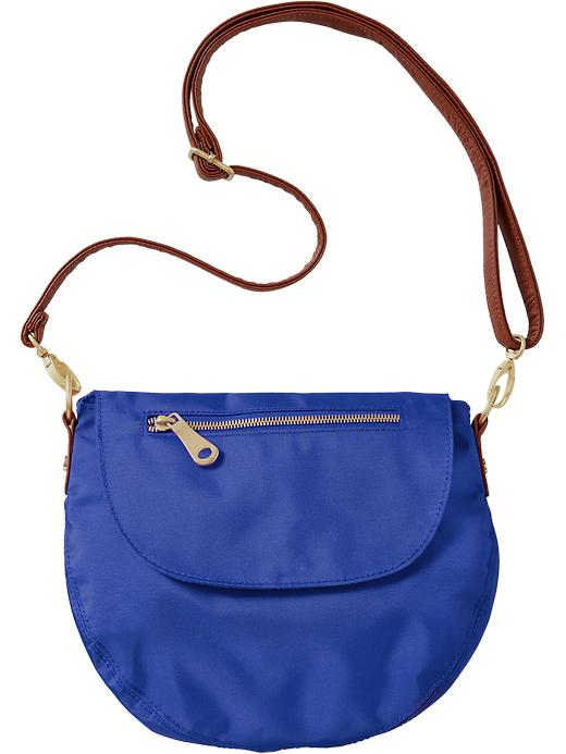 Old Navy Women's Canvas Zip Flap Crossbodies - Color me blue - Old Navy Canada
