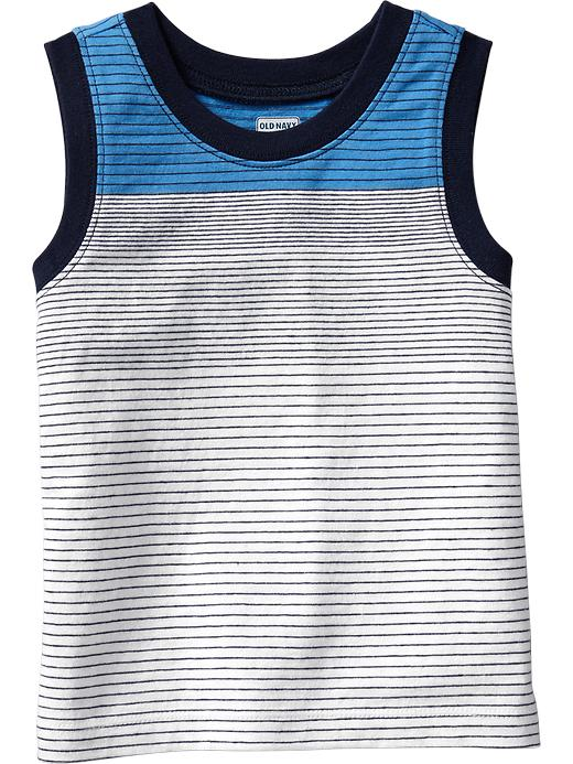 Old Navy Striped Muscle Tees For Baby - Azure like you - Old Navy Canada