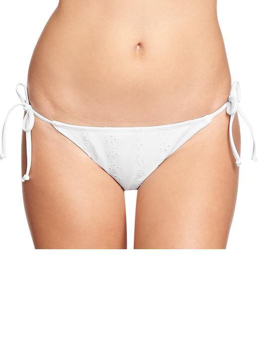 Old Navy Women's Eyelet Halter String Bikinis - White bottom - Old Navy Canada