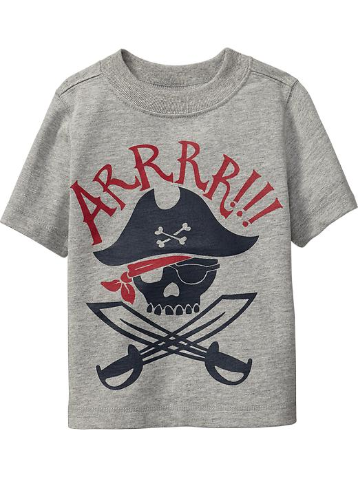 Old Navy Pirate Graphic Tees For Baby - Heather gray
