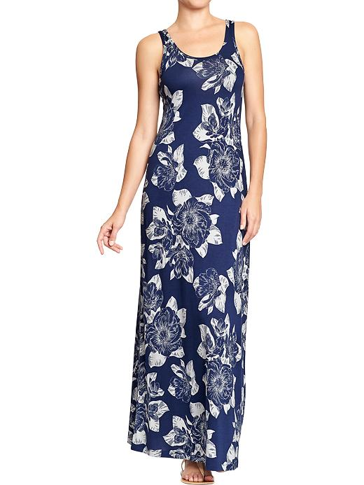 Old Navy Women's Patterned Maxi Tank Dresses - Blue floral - Old Navy Canada