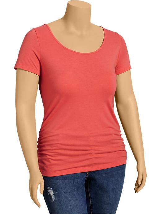 Old Navy Women's Plus Side Shirred Tees - Briquette