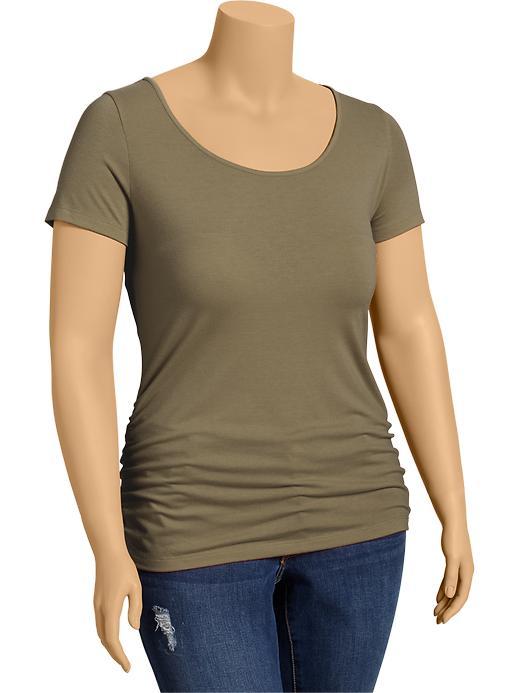 Old Navy Women's Plus Side Shirred Tees - Arugula