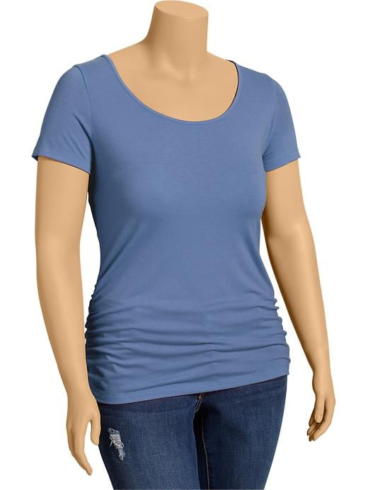 Old Navy Women's Plus Side Shirred Tees - Peri big trouble
