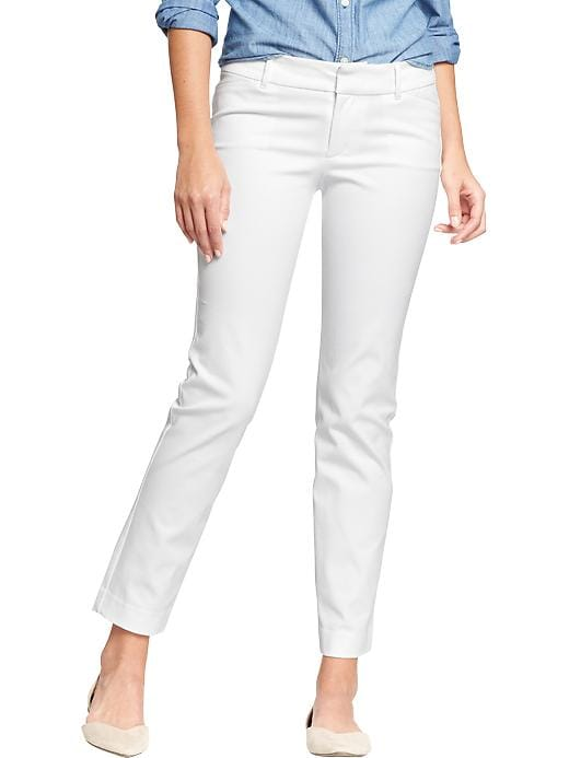 Old Navy Women's The Pixie Skinny Ankle Pants - White - Old Navy Canada