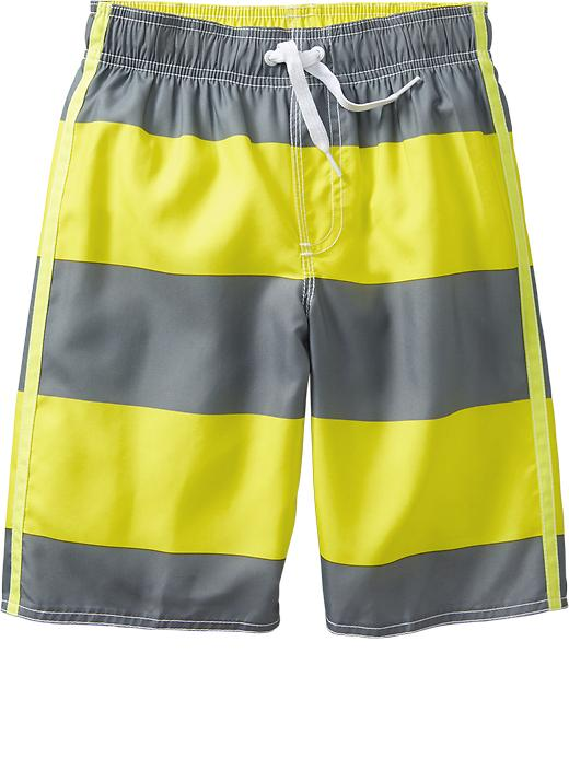 Old Navy Boys Rugby Stripe Swim Trunks - Yellow stripe - Old Navy Canada