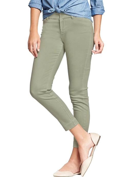Old Navy Women's The Pixie Twill Skinny Ankle Pants - Thyme is up - Old Navy Canada
