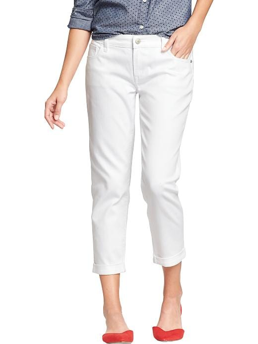 Old Navy Women's The Boyfriend Skinny White Jeans - Bright white - Old Navy Canada