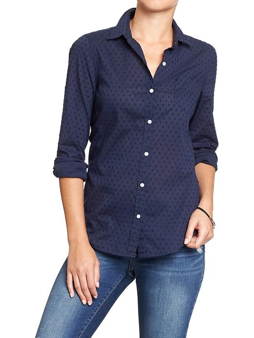 Old Navy Women's Swiss Dot Shirts - In the navy - Old Navy Canada