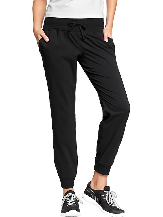 Women's Active By Old Navy Cropped Track Pants - Black jack - Old Navy Canada