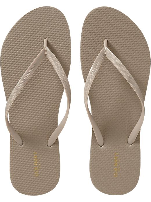 5e8b607872e Old Navy Women s New Classic Flip Flops - Fossilized