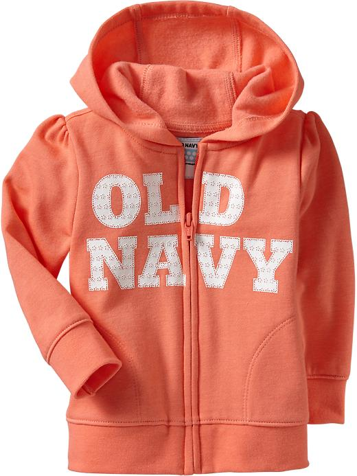 Old Navy Logo Fleece Hoodies For Baby - Bright coral