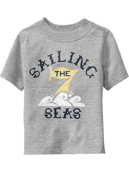 "Old Navy ""sailing The 7 Seas"" Tees For Baby - Heather gray"