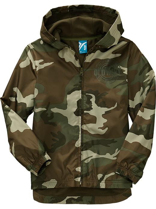 Boys Active By Old Navy Windbreakers - Green camo - Old Navy Canada