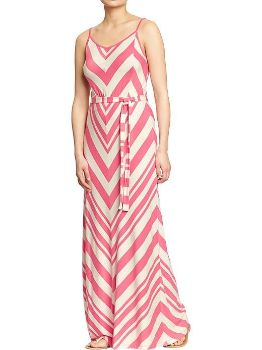 Old Navy Women's Chevron Stripe Maxi Dresses - Red stripe - Old Navy Canada