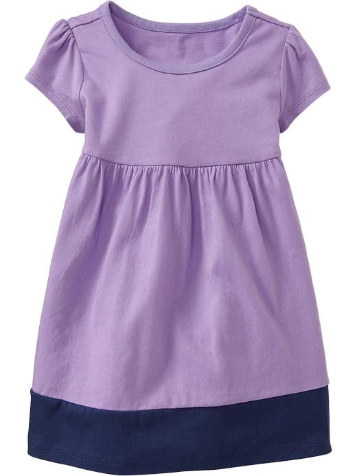 Old Navy Color Block Jersey Dresses For Baby - French violet - Old Navy Canada