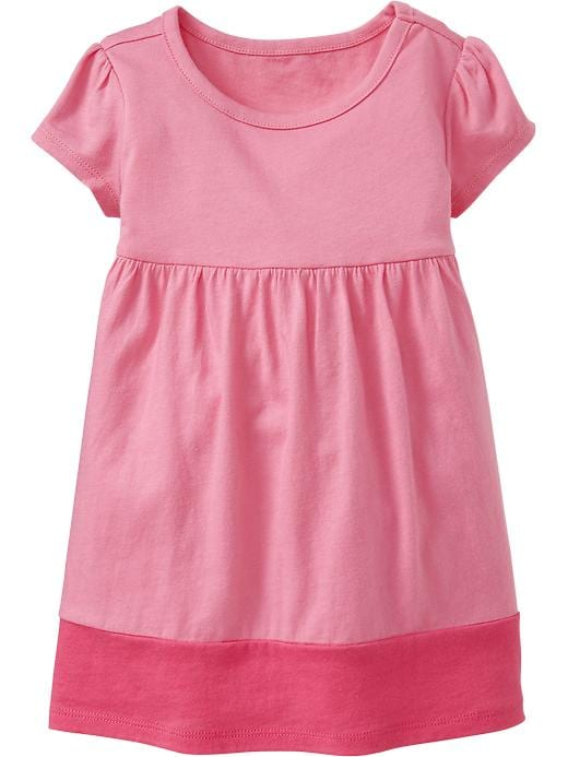 Old Navy Color Block Jersey Dresses For Baby - Legally pink - Old Navy Canada