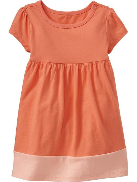 Old Navy Color Block Jersey Dresses For Baby - Coral pink - Old Navy Canada