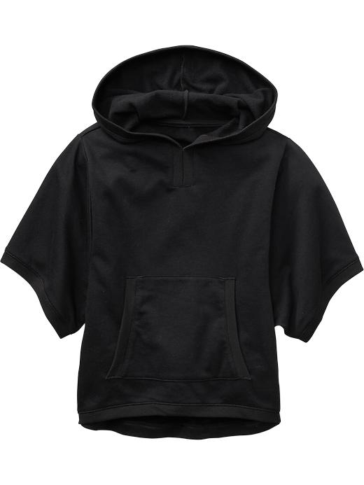 Old Navy Girls Hooded Fleece Capelets - Black jack