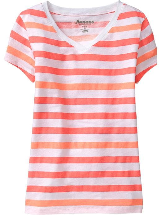 Old Navy Girls V Neck Tees - North beach neon 375