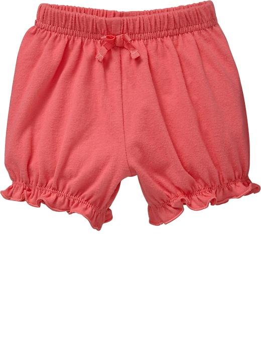 Old Navy Jersey Bloomer Shorts For Baby - Bright coral