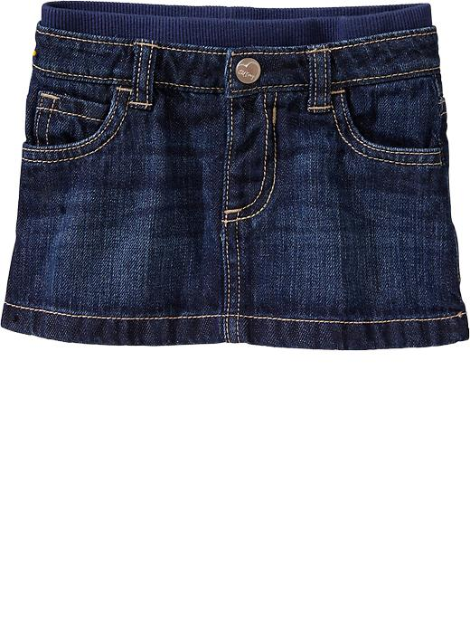 Old Navy Rib Waist Denim Minis For Baby - Denim