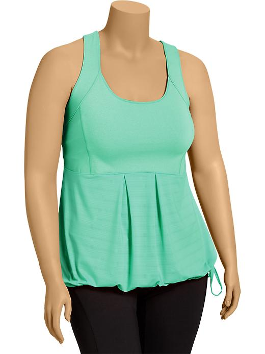 Women's Plus Active By Old Navy Compression Tanks - Tropical plunge - Old Navy Canada