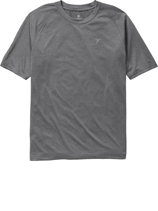 Men's Active By Old Navy Moisture Wicking Tees - On dark grey heather - Old Navy Canada