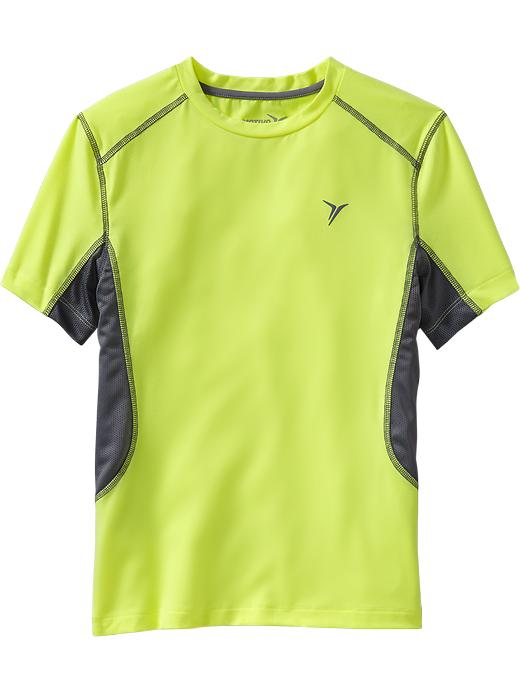 Boys Active By Old Navy Slim Fit Tees - Electric neon - Old Navy Canada