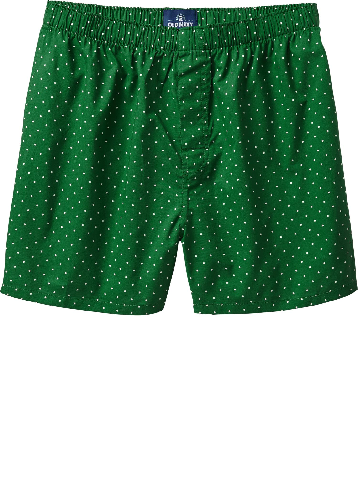 Old Navy Men's Printed Boxers - Green dots