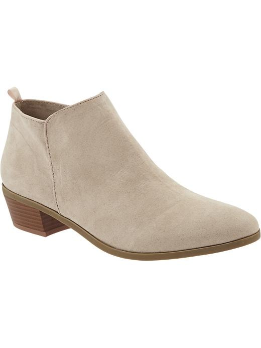 Old Navy Women's Zip Ankle Boots - Sand - Old Navy Canada