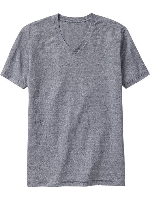 Old Navy Men's Micro Stripe V Neck Tees - Navy - Old Navy Canada