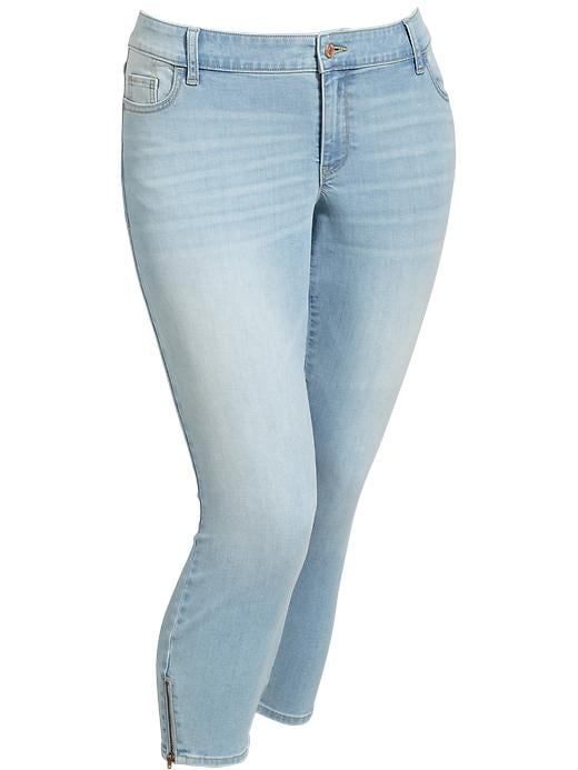 Old Navy Women's Plus The Rockstar Ankle Zip Skinny Jeans - Light wash - Old Navy Canada