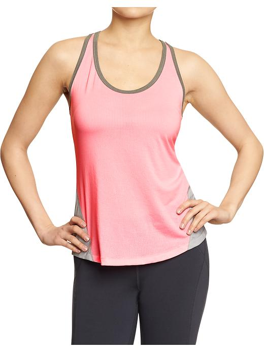 Women's Active By Old Navy Semi Fitted Tanks - Prom queen neon poly - Old Navy Canada